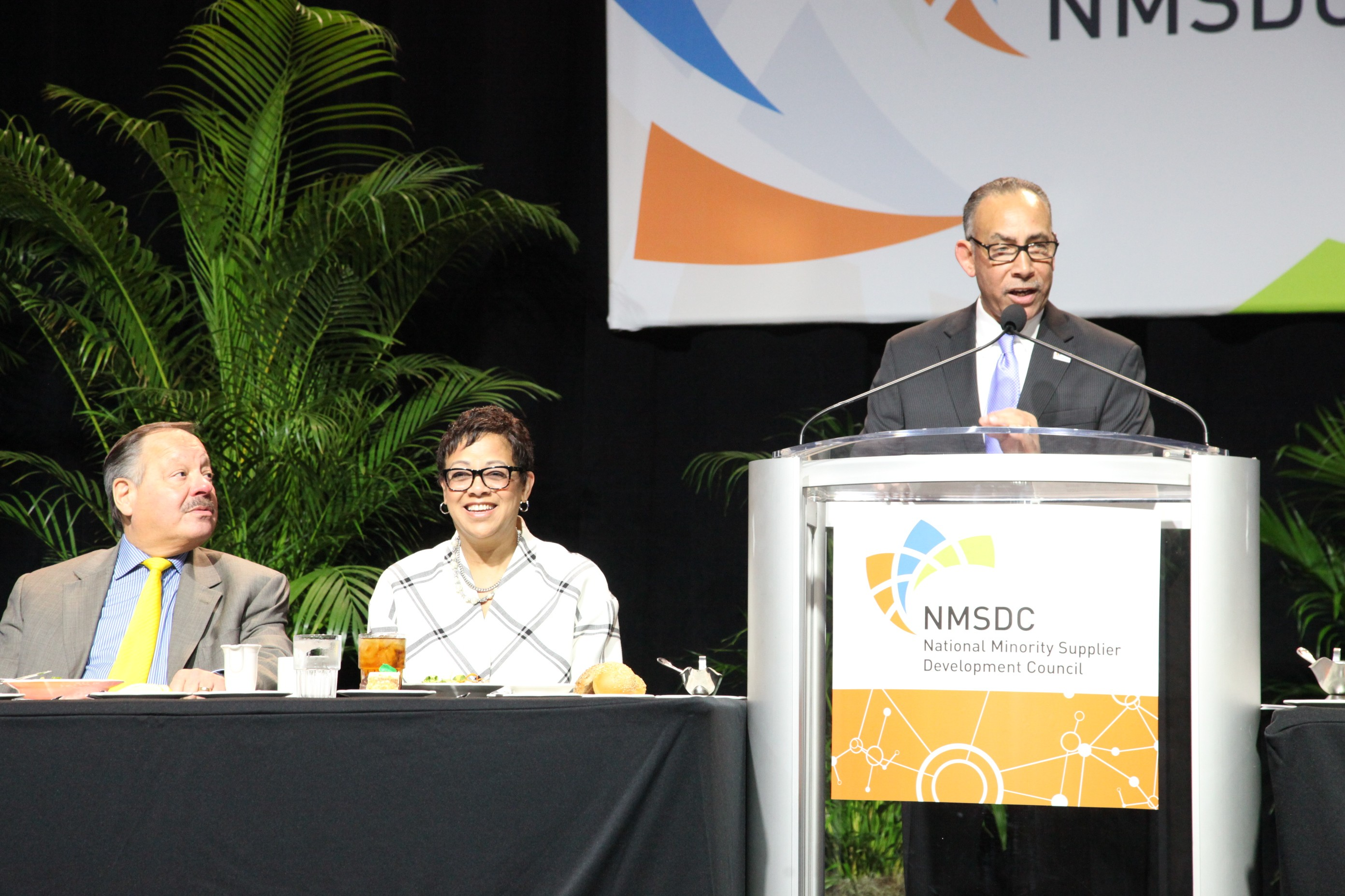 Shelley Stewart, Jr. of DuPont speaks at the 2014 NMSDC Luncheon.