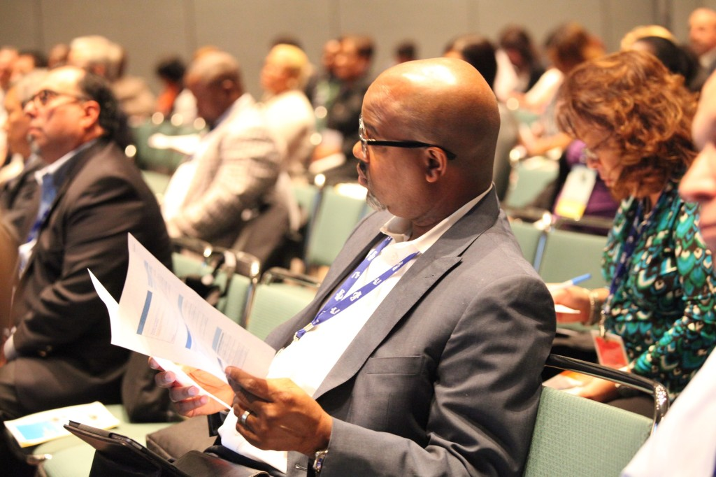 NMSDC Conference attendee learning about the RFP process.