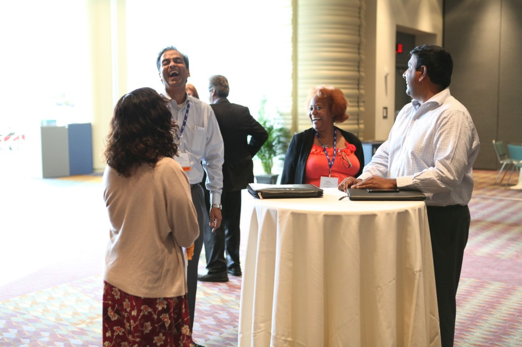 NMSDC attendees network in Connect Zone after Tuesday's workshops.