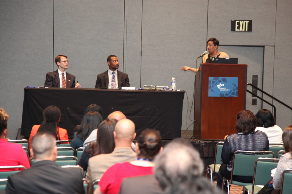 Making the Business Case for Minority Supplier Development panel moderated by Keya Grant from Randstad USA.